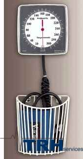 Blood Pressure - Wall aneroid with wall basket, non-latex