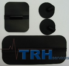 "Electrode pads - TENS/EMS reuseable, 1.75"" x 4"""
