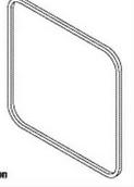 Autoclave Gasket (Door) – Consolidated Sterilizer 16″ Square door.