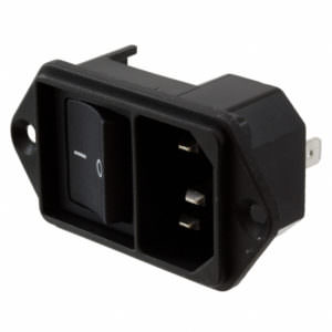 AC Plugs – Module power entry with switch, screw on