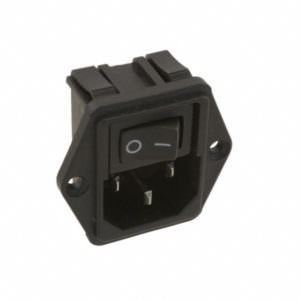 AC Plugs – MODULE POWER ENTRY FLANGE 10A – horizontal on/off switch
